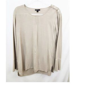JAMES PERSE Los Angeles Taupe Silk Blend Top EUC